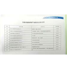 赢8娱乐1442入选长春市新材料产业重点企业名单