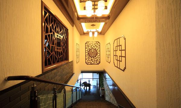 楼梯走道墙面硅藻泥图案