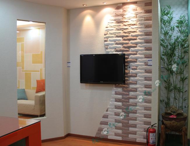 兰舍硅藻泥电视背景墙充分体现主人品位